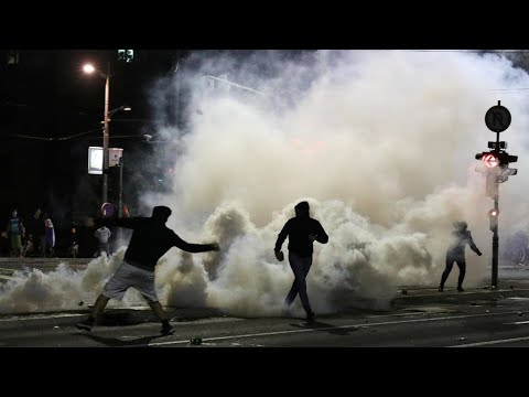 Thousands protest in Belgrade as Serbia reimposes Covid-19 curfew