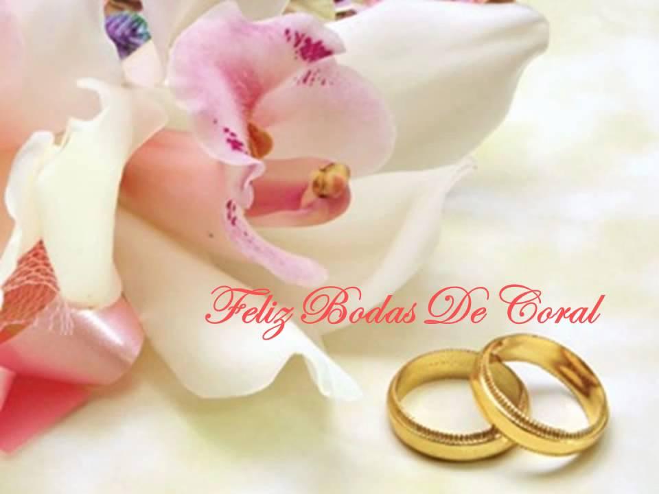 Feliz Aniversario De Bodas: Feliz Bodas De Coral: Lucia E Wagner.