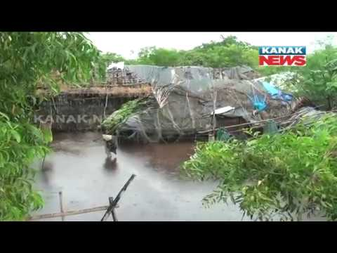 More Than 20 Houses Washed Away As High Wave Hit Village In Chilika