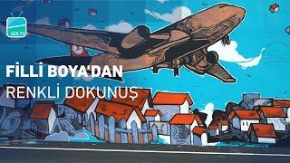 İstanbul Havalimanı'na Filli Boya'dan Renkli Dokunuş