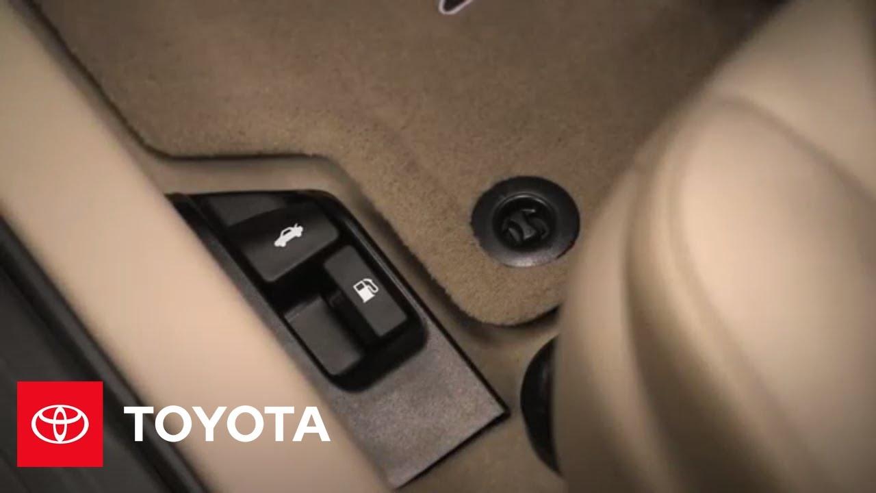 2014 5 Toyota Camry How To Fuel Door Hood Trunk