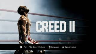 Creed II (2018) DVD Menu