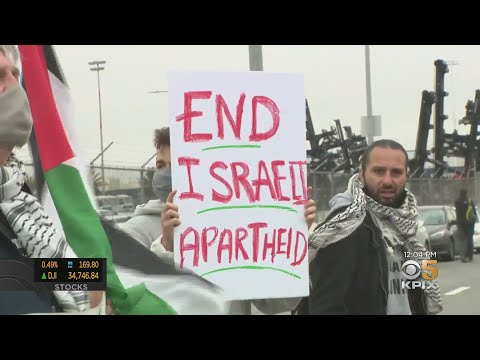 Protesters Keep Israeli Ship from Unloading At Port Of Oakland