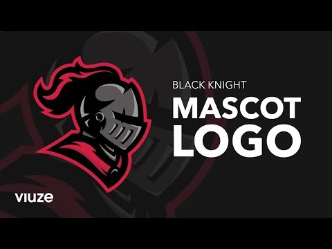 Logo Design Tutorial – Black Knight Mascot Logo Design Process thumbnail