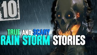 10 Most HORRIFYING True Stories with Thunderstorm Sound Effects for Sleep - Darkness Prevails