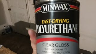 MINWAX FAST DRYING POLYURETHANE CLEAR GLOSS CONTINUED REVIEW OF FINISHED TABLE