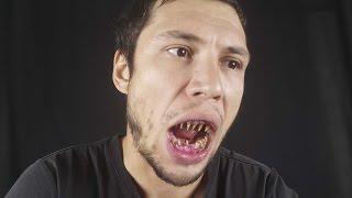 Как сделать бутафорские зубы и вампирские клыки макияж на Halloween