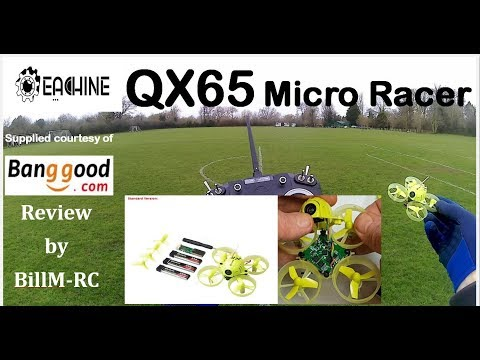 Eachine QX65 Micro FPV Racing drone review - TINY big WHOOP