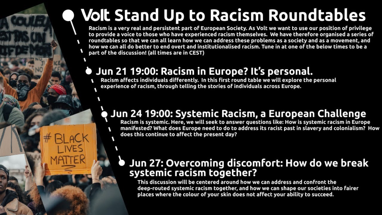 YouTube: Stand Up to Racism Round Table 2 | Systemic Racism, a European Challenge
