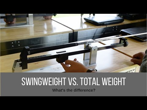 Swingweight vs. Total Weight