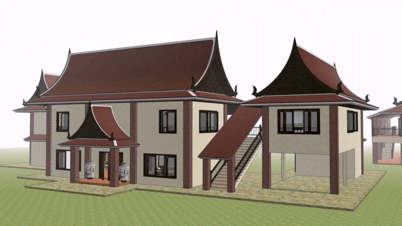 Thailand style house design youtube for Home designs thailand