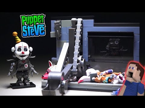 Five Nights at Freddy's Scooping Room ENNARD FNAF Jumpscare Mcfarlane Toys Lego Unboxing Playset