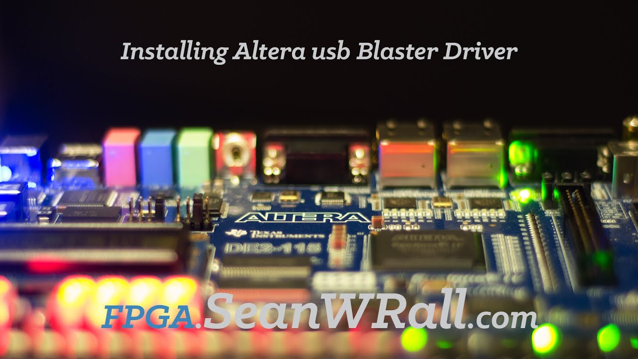 DE2 USB BLASTER DRIVER FOR WINDOWS DOWNLOAD