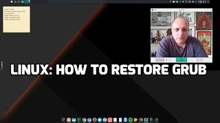 Linux: How to restore GRUB
