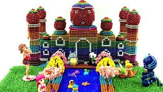 DIY - How To Make Rainbow Taj Mahal With Magnetic Balls (100% Satisfying and Relaxing)