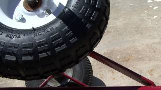How to fix those dolly wheels that are pressed on split washers