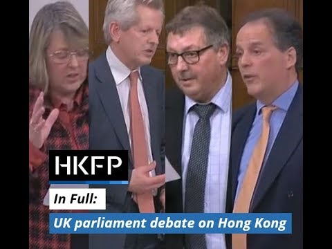 In Full: UK parliament debate on democracy in Hong Kong, 23.01.18