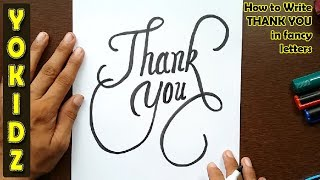 Download How to write THANK YOU in fancy letters