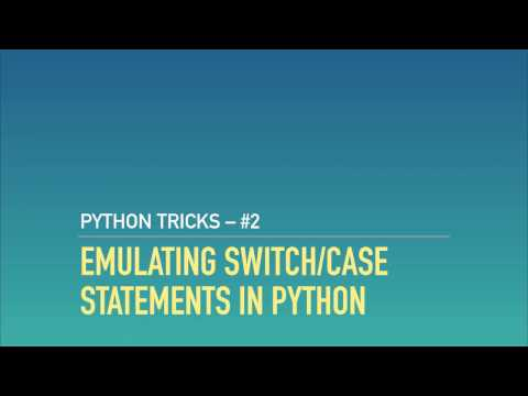 Emulating Switch/case Statements In Python With Dictionaries