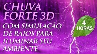 Som de Chuva Forte 3D, Vento e Raios - Para Dormir e Relaxar (4h00)