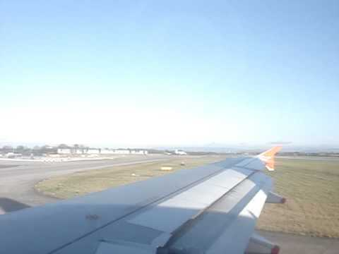 Landing At Manchester Airport - Terminal 3 , Easy Jet EZY1819