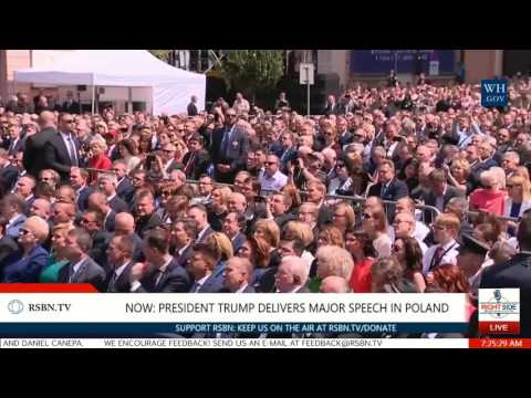 Full Speech: President Trump Delivers HISTORIC Speech to People of Poland 7/6/17