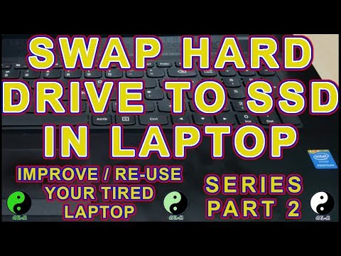 Laptop Upgrade HDD to SSD - Part 2 of Improve / Re-Use Your Tired Laptop