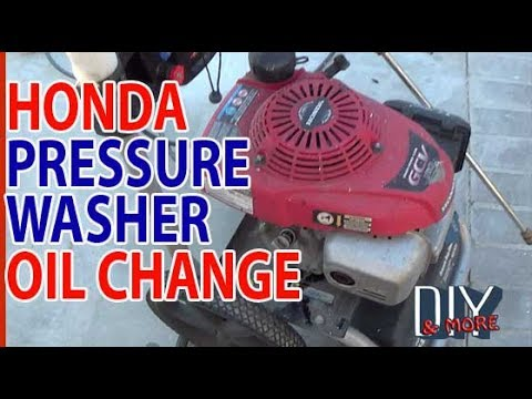 DIY THE EASY WAY HONDA GCV160 PRESSURE WASHER ENGINE OIL CHANGE