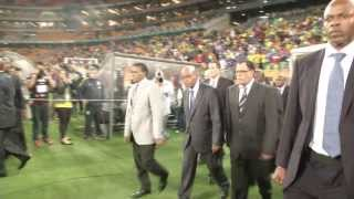 President Jacob Zuma attends Brazil vs South Africa match