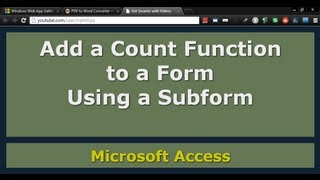 Use Count Function in a Calculated Control with a Form and Subform