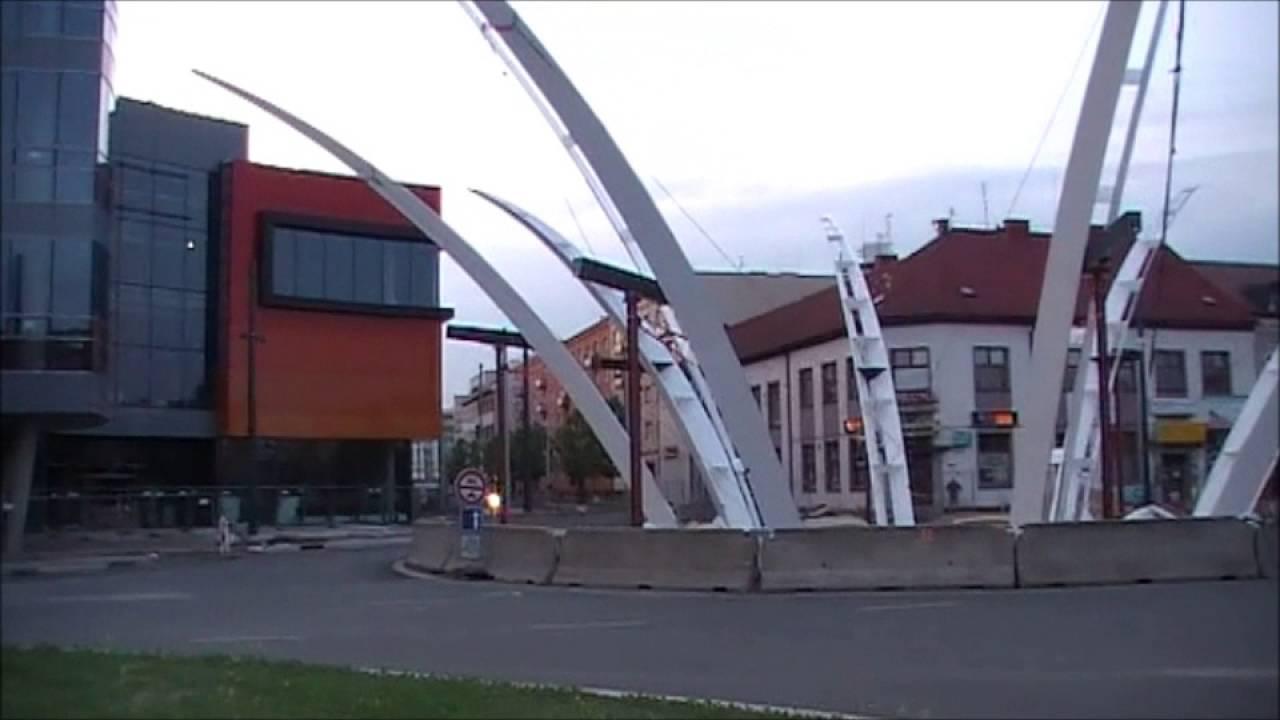 6f4365d7d5 Aupark a křižovatka U Koruny - výstavba - OC Hradec Králové 10. část 29.5.  2016. Jak vypadá stavba