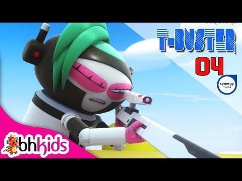 Phim Hoạt Hình Hay - Robot Người Máy T-Buster tập 04   Hoạt Hình Vui Nhộn 2017
