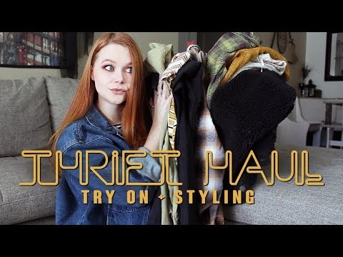 fall try on thrift haul + styling