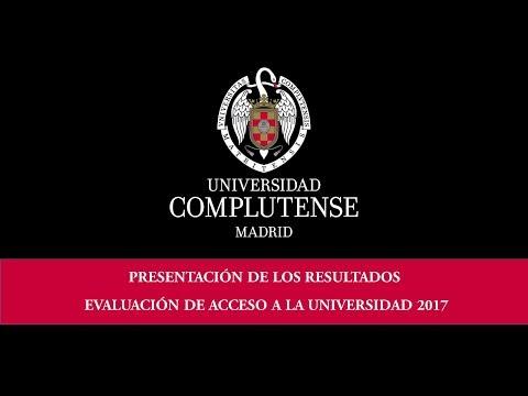 Presentación de los resultados de la evaluación de acceso a la Universidad (EvAU). UCM