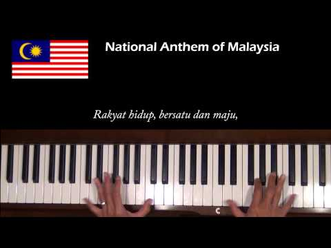 Malaysia National Anthem Piano Tutorial at Tempo