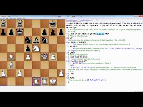 Morozevich's Trademark Win Over Anand - Fireworks In King's Gambit