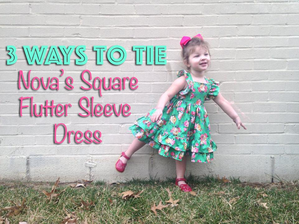 Nova's Square Flutter Sleeve Dress Pattern By CKC Patterns YouTube Inspiration Ckc Patterns