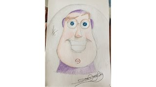 Ep. 1: How to draw Buzz Lightyear with Colour - Drawing Tutorial