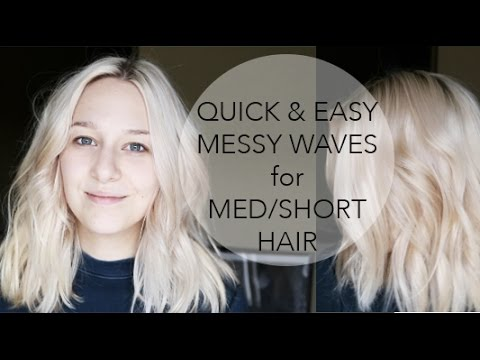 How To Messy Waves For Medium Length Hair