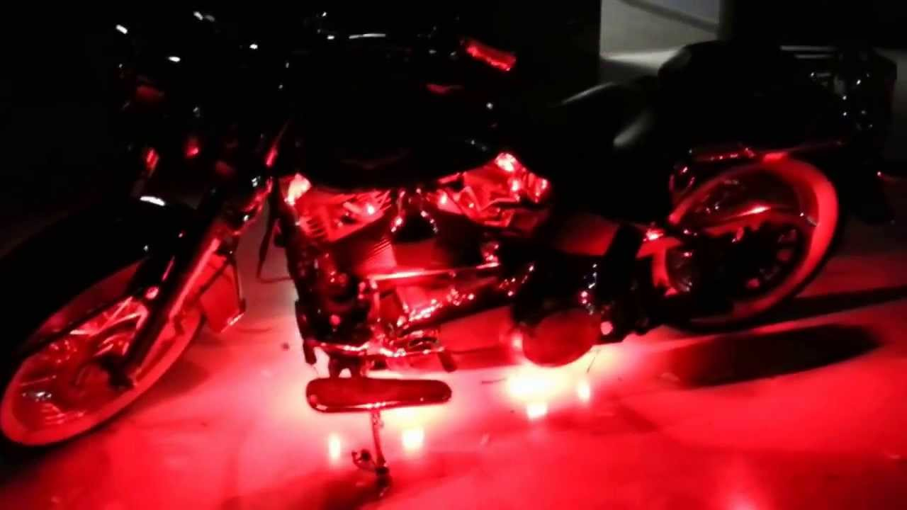 Harley Davidson Deluxe >> The HID Factory LED Harley Davidson Softail Deluxe - YouTube