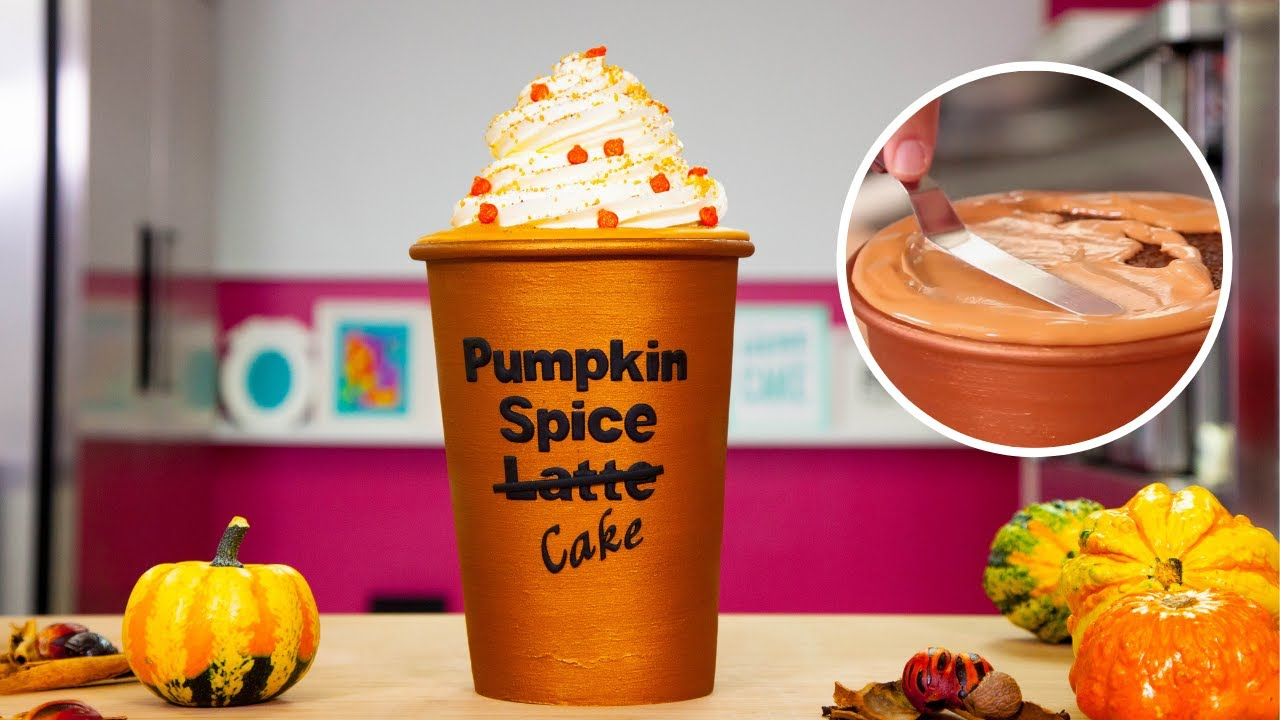 Starbucks Pumpkin Spice Latte made of CAKE! | Fall Baking Compilation | How To Cake It Step By Step
