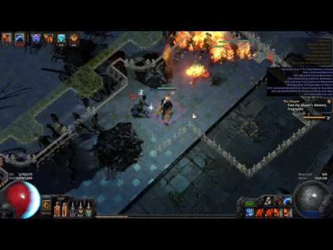 [Path of Exile 2.5] Necromancer 5 Flame Golem - T10 Colonnade Map
