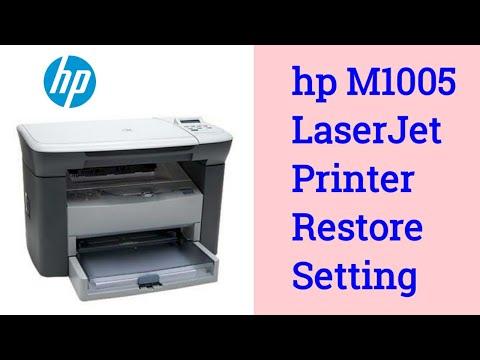 Hp LaserJet M1005 MFP Printer Restore