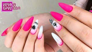 Коррекция нарощенных ногтей 💅 Молочный градиент 💅 Ирина Брилёва