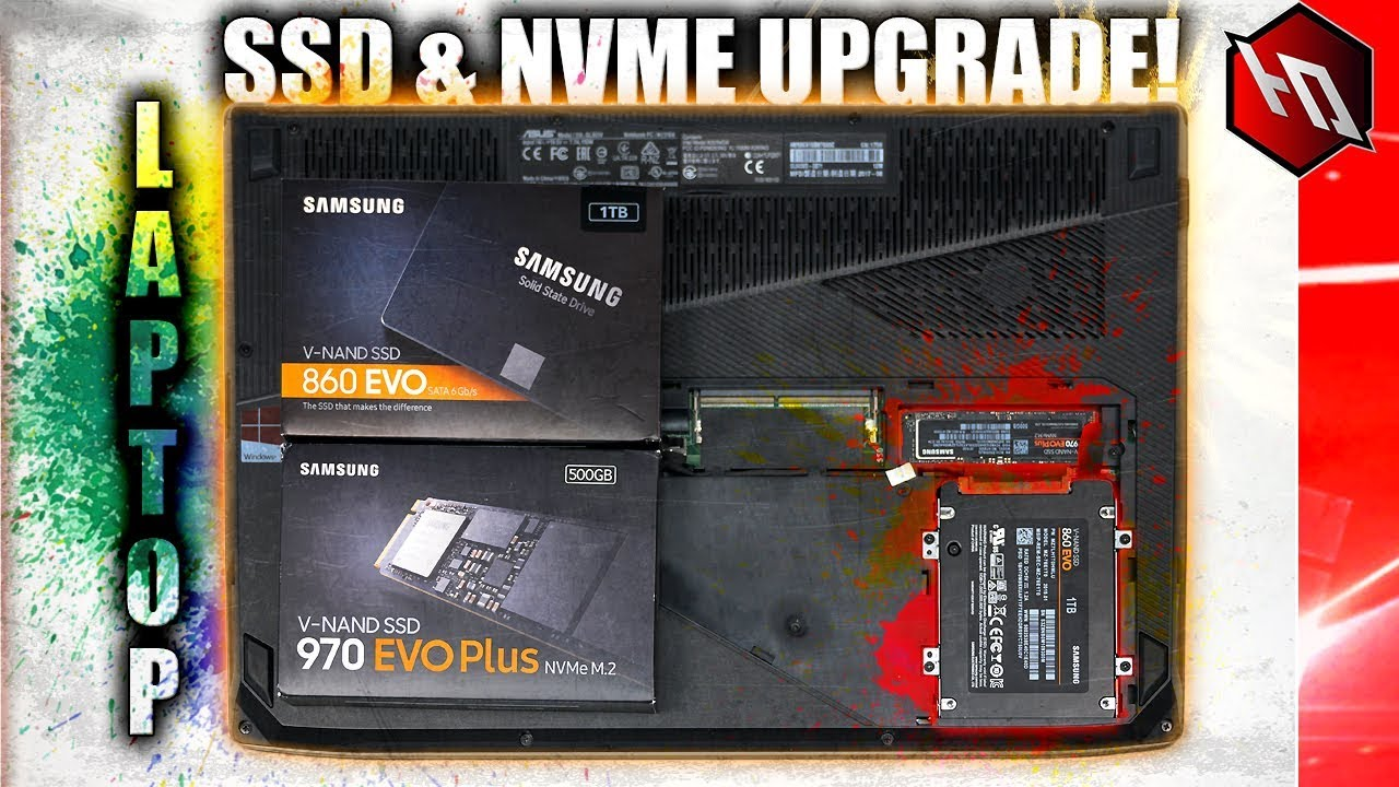 UPGRADING MY LAPTOP WITH SSD & NVME!! (Samsung 860 EVO + 970 EVO Plus  Install, Cloning, Boot Time)