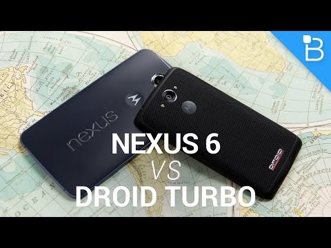 Google Nexus 6 vs Motorola Droid Turbo!