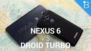 Google Nexus 6 vs Motorola Droid Turbo!