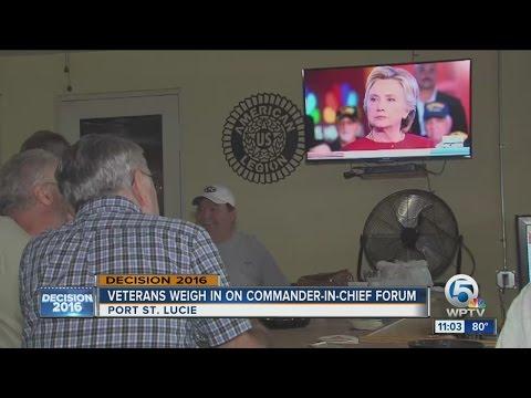 Veterans weigh in on Commander-in-Chief Forum