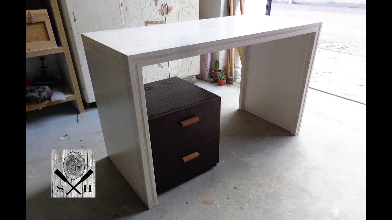 Modern desk design pt1 scrivania design moderno p1 youtube for Scrivania design