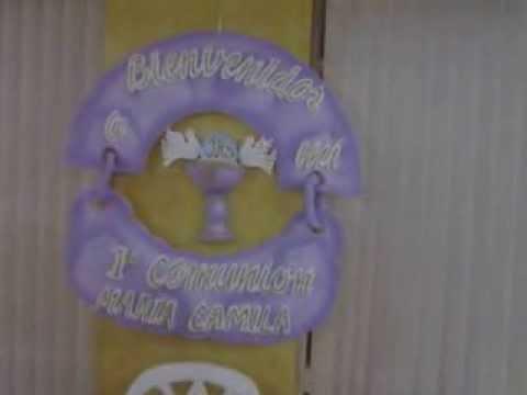 decoracion primera comunion en icopor